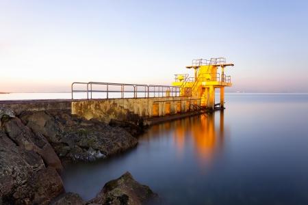 blackrock: Before the Sunrise at Blackrock diving board  Salthill, Galway