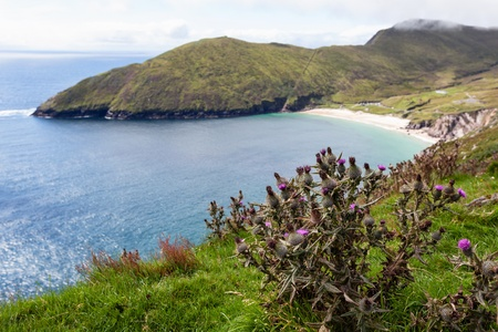 achill: Beautiful landscape with mountains and ocean  Achill Ireland, view at Keem beach
