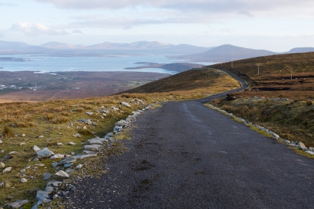 achill: Mountain view from Minaun, Achill island. Stock Photo