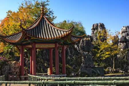 kunming: A Pagoda in the stone Forest located near Kunming, Yunnan, China.
