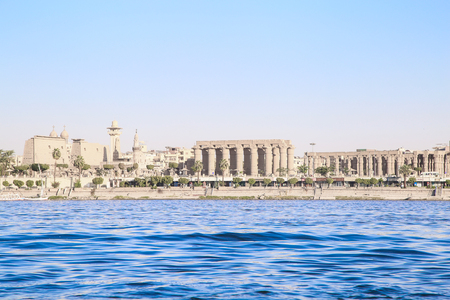 LUXOR, EGYPT, Architecture of Luxor, city on the river NIle. Banque d'images