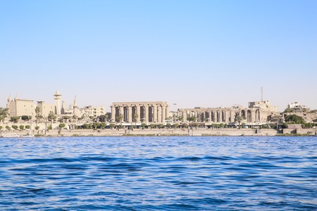 LUXOR, EGYPT, Architecture of Luxor, city on the river NIle.