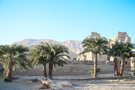 part of the temple in the city of the dead in Luxor