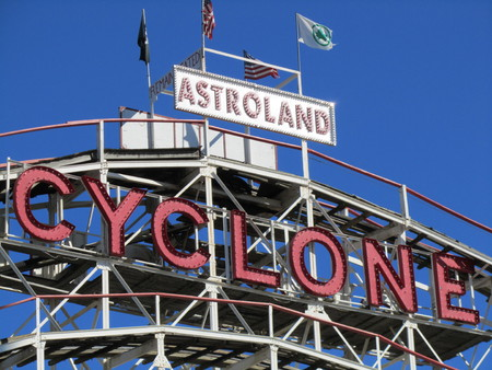 Cyclone sign at astroland New York