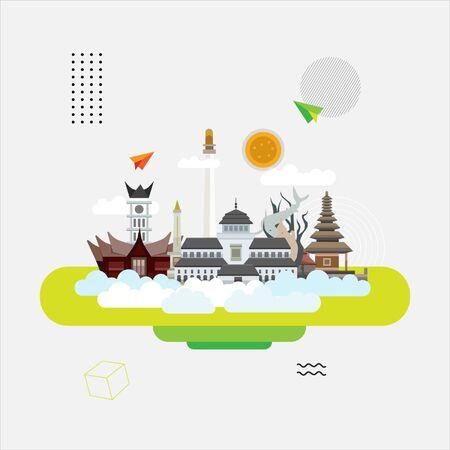 Point de repère de l'Indonésie