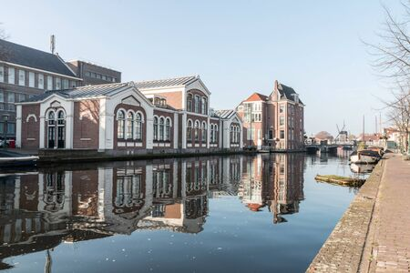 the netherlands: The city of Leiden in the Netherlands Editorial
