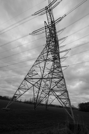 electricity pole: Electricity pole inside a farmland