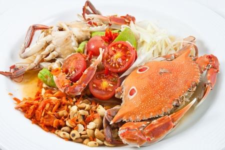papaya salad with crab photo