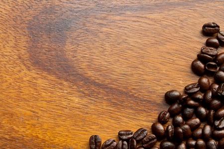 coffee bean on wood table