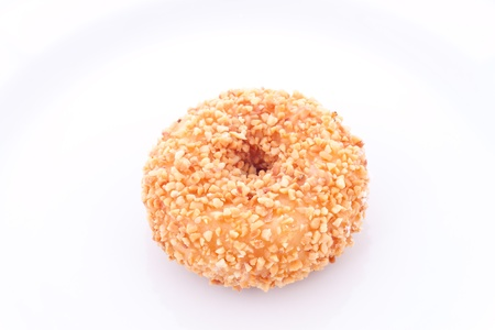 nuts donut on white background
