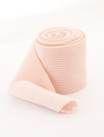 elastic: photo of the elastic bandage against the white background