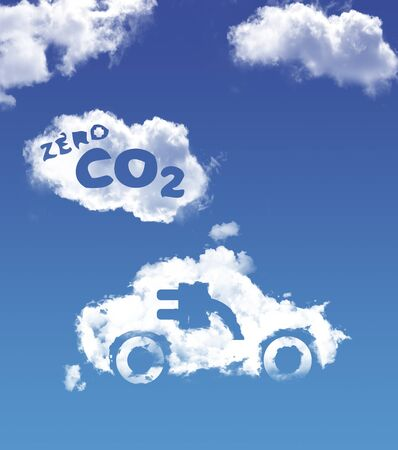 electric car without rejection co2 Standard-Bild