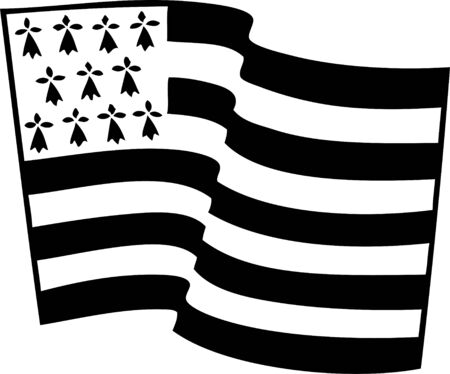 Vector vlag van Bretagne zwaaien op een witte achtergrond Stock Illustratie