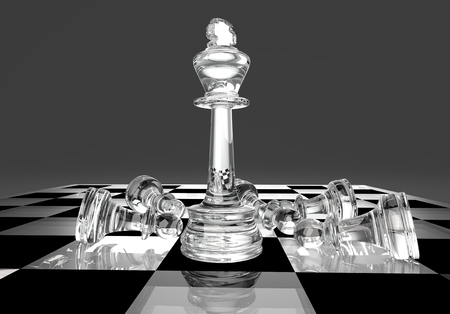 Chess business concept, leader & success, 3d illustration Stock Photo