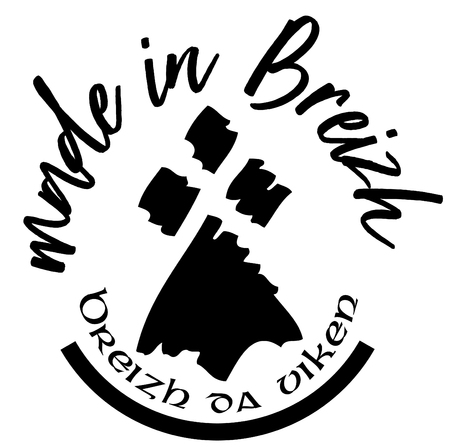 Made in Brittany (Product in Brittany) vector logo and label