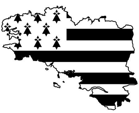 Made in Brittany (Produkt in der Bretagne) Vektor-Logo und Etiketten