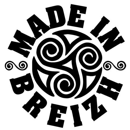 Logo vettoriale ed etichette Made in Brittany (prodotto in Bretagna) Logo