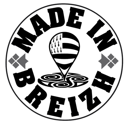 Made in Brittany (Product in Brittany) vector logo and labels