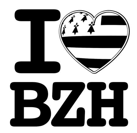 Adoro breizh, logo vettoriale ed etichette Made in Brittany (prodotto in Bretagna)