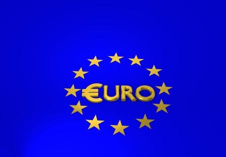 euro sign, 3d illustration