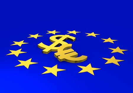 euro sign, money, 3d illustration Stok Fotoğraf