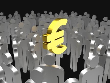 euro sign, money, 3d illustration Reklamní fotografie