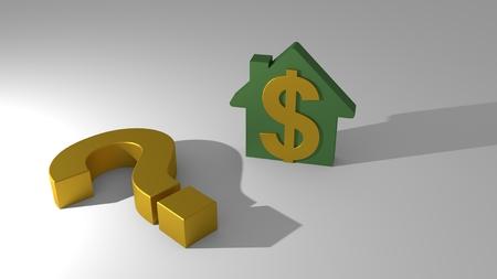 house for real estate industry property, 3d illustration