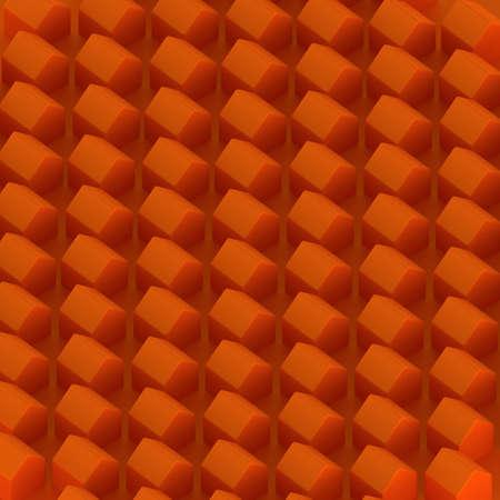 orange houses for real estate property industry, 3d illustration