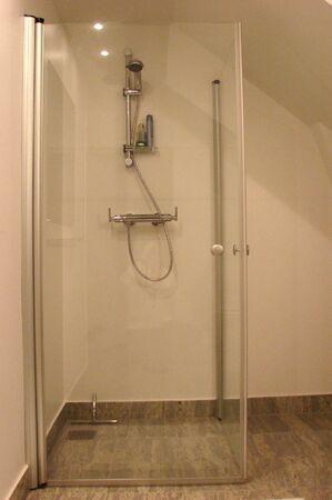 Bathromm interior in glass Stock Photo