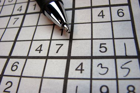 Sudoku     Standard-Bild