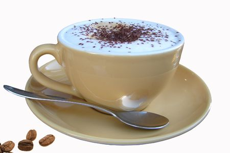 Cup of cappuchino isolated Stock Photo