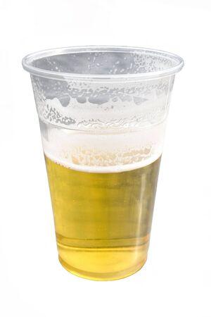 Cold fresh beer, isolated Standard-Bild