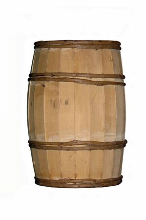 Wooden vintage barrel Stock Photo
