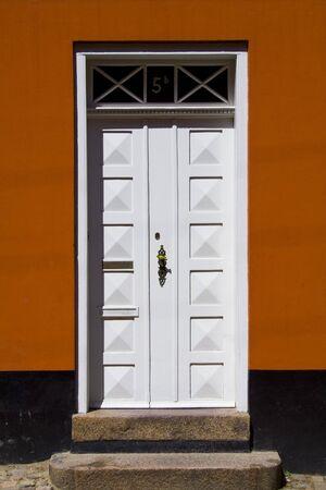 Door in a red house