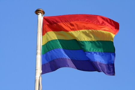 rainbow flag pride symbol Stock Photo