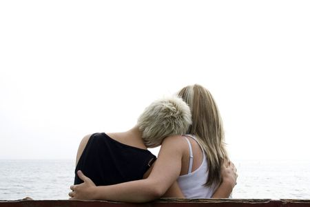 lesbian women: two girls holding eachother