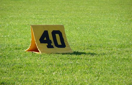 yardline:                                40 yardline at a football field