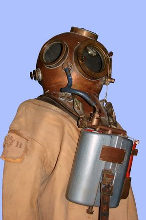 old diving suit and helmet photo