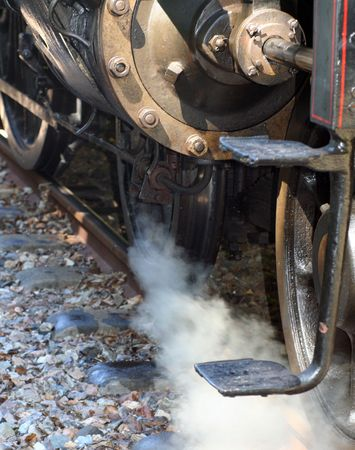 Detail of an old steam train Stock Photo - 5010882