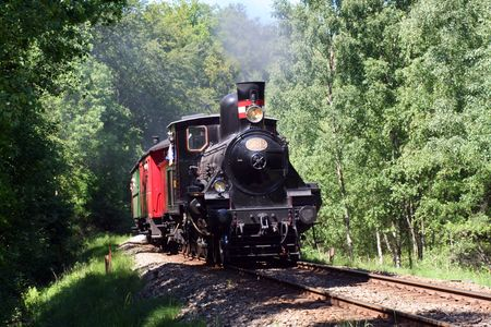 old steam train Stock Photo