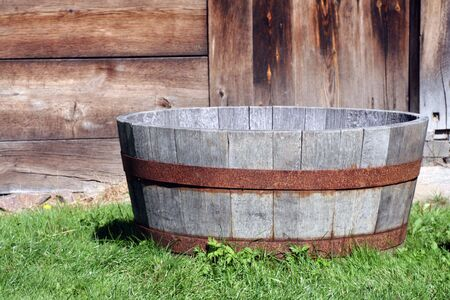 old wooden tub