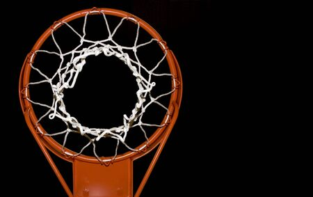 Basketball net isolated with space for text