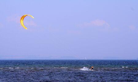 kitesurfer in action photo