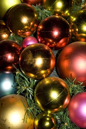 xmas decoration in close up Stock Photo