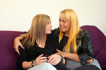 lesbianism: two young women