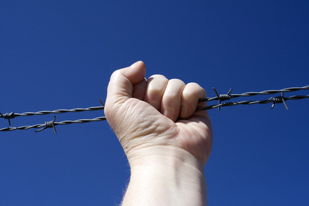 Barbed wire fist photo