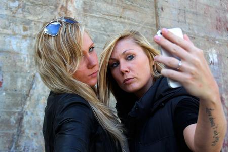 lesbianism: Making a selfie Stock Photo