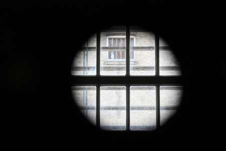 view from a prison cell window