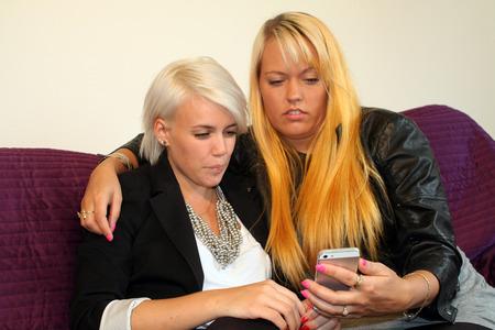 lesbianism: women flirting Stock Photo