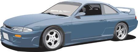 Blue Import Modern Sports Car Stock Illustratie